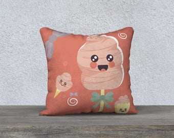 "Decorative pillow cover ""Candy cute R"" pillow for girl baby-child decor bedroom gift pillow cover"