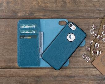Leather iPhone 8 Plus Case, iPhone 8 Plus Wallet Case, iPhone 8 Plus Card Case, iPhone 8 Plus Cover, Magnetic iPhone 8 Plus Leather Case