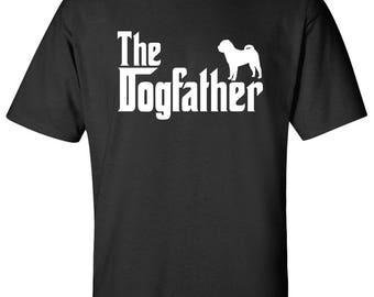 The Dogfather Shar Pei Dog Logo Graphic TShirt