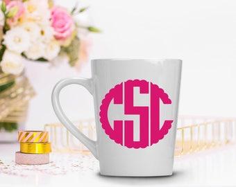 Monogrammed Mug - Personalized Monogram mug - Monogrammed Gift Mug - Custom Mug - Personalized Mug - Christmas Gift for Mom