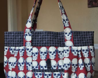 Harlequin Diamond Rad Skull bag