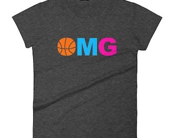 OMG Girls Basketball T Shirt - Basketball Gift, Basketball Mom Shirt, Basketball Shirt for Sisters, Teen Girl Basketball, Gift for Girl