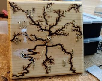 wood art clock