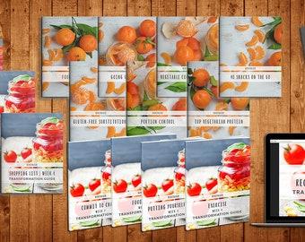 Exclusive Diet 28Day Program + Vegetarian Program- Planner Printable | Weight loss  | digital download | diet coke | Food | Fitness
