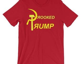 Crooked Trump Russia Short-Sleeve Unisex T-Shirt