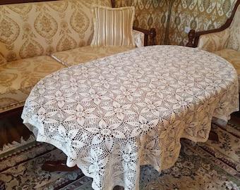 Crochet tablecloth from 100% Baumwole