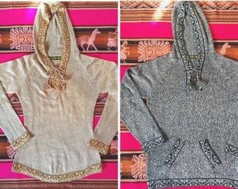 100% Baby Alpaca Wool Hooded Sweater