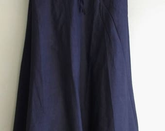 Black indian cotton skirt with Drawstring waist