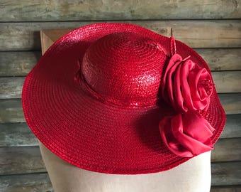Mr Individual brand red vintage hat