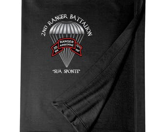 2/75th Ranger Battalion (Original Scroll)  Embroidered Blanket-3827