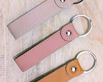 Personalized Hand-stamped Keychain