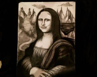 Charcoal Mona Lisa