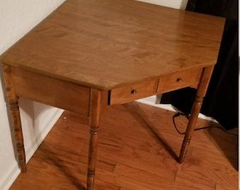"""Ethan Allen Heirloom Nutmeg Maple CRP 48"""" Corner Desk 10-4530"""