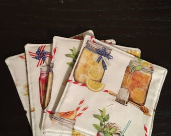Fabric Four Pack of Coasters