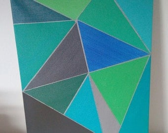 Painting on canvas TRIANGLES