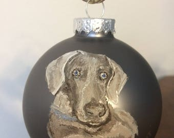 Custom hand-painted ornaments of your pet