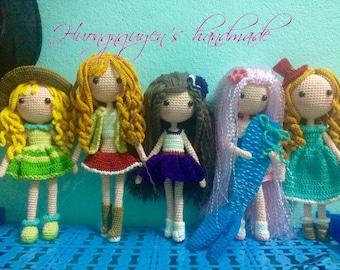 crocheted doll- amigurumi doll- handmade doll
