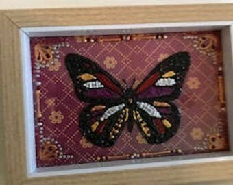 Hand painted butterfly design