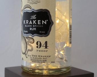 Kraken Spiced Rum Bottle Customizable Outlet Powered/Plug-In LED Light Gift