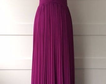 Spaghetti Strap Maxi Dress with Pleated Bodice Details