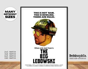The Big Lebowski Movie Poster, Jeff Bridges Movie poster, John Goodman Big Lebowski