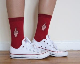 Middle Finger Socks
