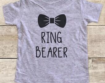 Ring Bearer Wedding Shirt - Baby bodysuit or Toddler Shirt or Youth Shirt