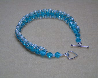 Blue Seedbead Bracelet