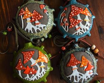 "Ceramic ocarina ""Mushrooms"" | Made To Order | Amanita | Music | Flute"