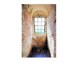 Tybee Lighthouse Window Canvas Print