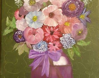 Floral Bouquet Oil Painting