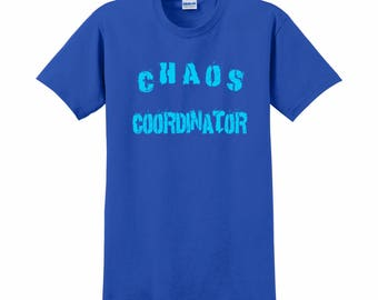 Teacher Shirt, Teacher Gift, Teacher Shirts, Teacher Appreciation, School Teacher,  Teacher Tee, Teacher Present, Chaos Coordinator, Teacher