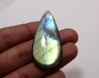 72.15Cts Natural Multi Flash Labradorite  Pear  50X23X7 mm Labradorite Loose Gemstone Amazing & Beautifull Labradorite Nice Flash AA-70