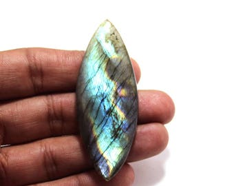 92.40cts Natural Multi flash Labradorite marquise 64X25X7 mm Labradorite loose gemstone amazing & beautifull Labradorite nice flash AA-45