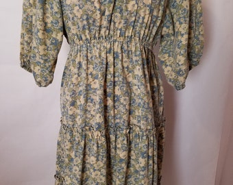 Vintage Candi Jones of California Floral Prairie Dress Size 8