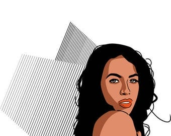 Aaliyah - More Than A Woman - Quote - Illustration - Gift - Birthday