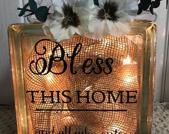 Glass Glow Box - Bless This Home