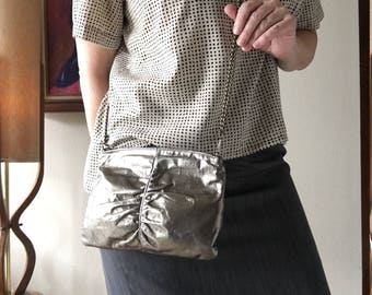 Gold Lame Leather Purse