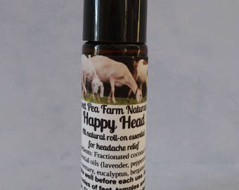 Happy Head-Essential Oil Roll-on for headache relief
