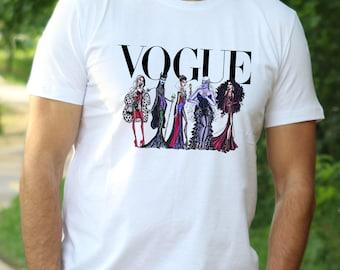 Disney Villian Shirt Vogue Princess  T-Shirt Disney Villian shirt Disney Princess tshirt Vogue t shirt Disney shirt disney gift