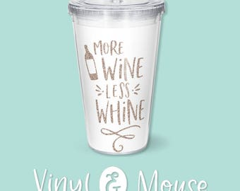 Funny Wine SVG Cutting File, Cricut Cameo svg dxf, Wine glass svg, more wine less whine svg cutfile, mom life svg, wine dxf, wine Iron On