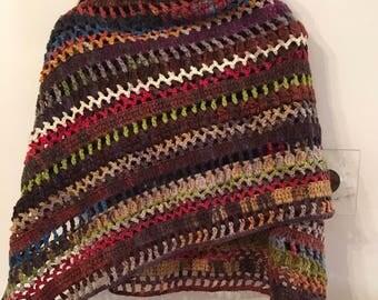 Hand made Crochet shawl wrap