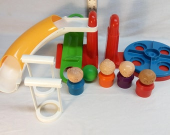 Vintage 1989 TupperToys School Yard replacement parts and Tupperware people / figures