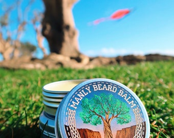MANLY CLUB Beard Balm Premium Organic Hand Made All Natural Styling Protection