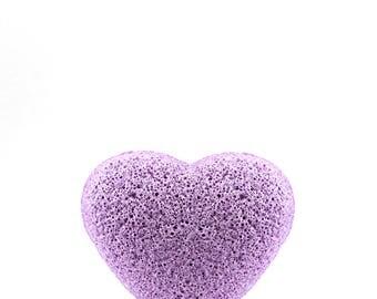 Lavender Konjac Sponge Heart