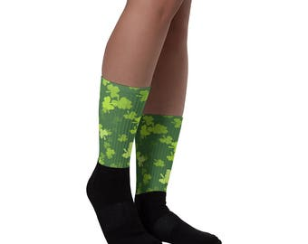 All Over Green Shamrock Accessories Lucky St. Patrick's Day Irish Socks