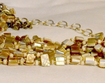 Natural Beige Pearl Necklace