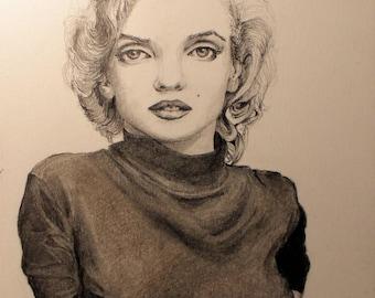 Marilyn Monroe Original Drawing
