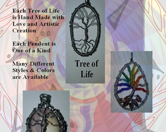 Sarahs Creations Tree of Life Jewelry Pendents