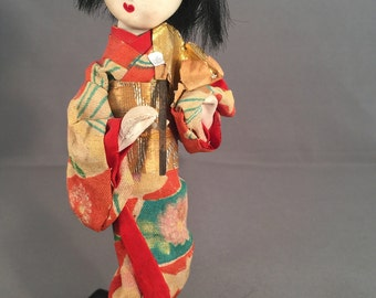 Little Vintage Japanese Geisha Doll